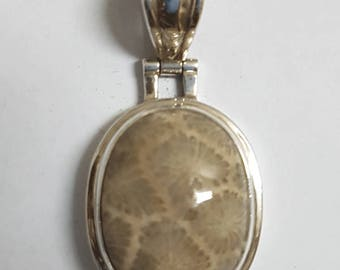 Fossil Coral Pendant #13