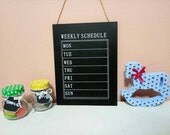 Chalkboard Sign, Weekly Schedule Sign, House chalkboard, Home Decor, Gift, Weekly Schedule Decor,Home Board,Hanging Decor,wall hanging