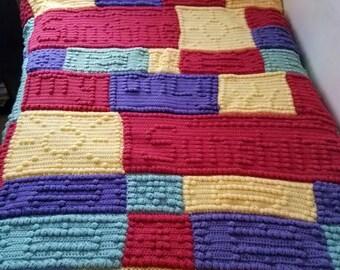 You are my sunshine blanket- afghan blanket- my only sunshine- crochet blanket-minky blanket nursery decor-baby blanket