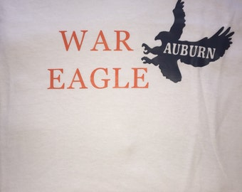 Auburn tiger t shirt etsy for Auburn war eagle shirt