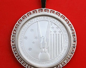 2013 1/2 oz. Australian War of the Pacific Memorial .999 Fine Silver BU Uncirculated Coin Soild 925 Sterling Silver Necklace NEW