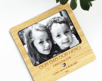 Personalised Bamboo Magnetic Frame