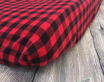 Plaid changing pad cover, changing pad cover, buffalo plaid changing pad cover, woodland changing pad cover, woodland nursery decor, lumberj