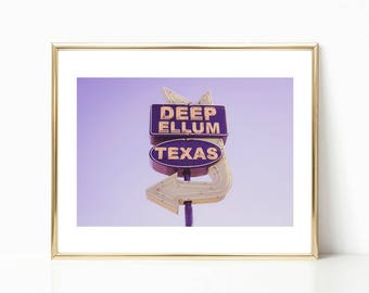 Texas Wall Art // Deep Ellum // Dallas Wall Art // Large Dallas Texas Prints // Industrial Wall Art // Dallas Wall Decor