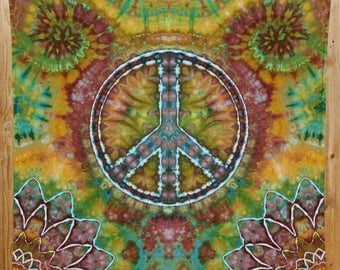 Peace Sign Tapestry, Tie Dye Tapestry