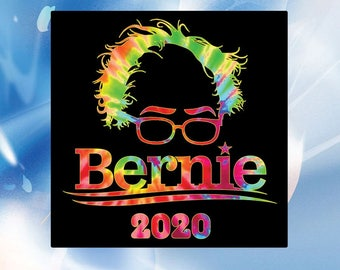 Bernie 2020 // Bernie Sanders Vinyl Sticker Decal // Digital printed bumper sticker // Feel the Bern // 4 x 4 inches