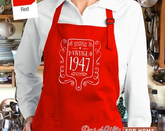 70th Birthday, 1947 Birthday, Full Length Apron, 70th Birthday Idea, 70th Birthday Present, 70th Birthday Gift,  For The Lucky 70 Year Old!