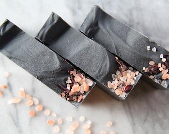 Activated Charcoal + Coconut Milk Soap | Grapefruit + Ylang Ylang + Vetiver Soap | Vegan Soap | All Natural Soap | Palm Oil Free Soap