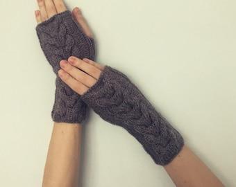 Hand Warmers - Wrist Warmers - Knit Fingerless Gloves
