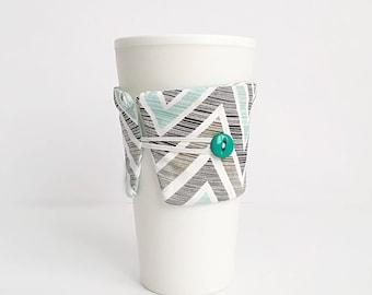 Coffee Mug Cozy - Coffee Mug Sleeve - Coffee Cup Cozy - Coffee Cup Sleeve - Unique Coffee Mug - Chevron Coffee Mug - Coffee Gift