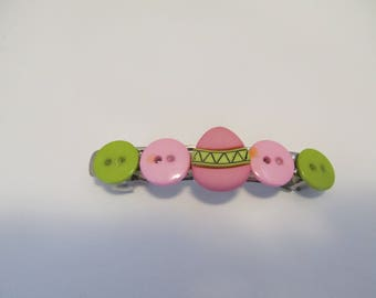 Easter accessories etsy easter egg button barrette easter gifts gifts for her gifts for girls negle Choice Image