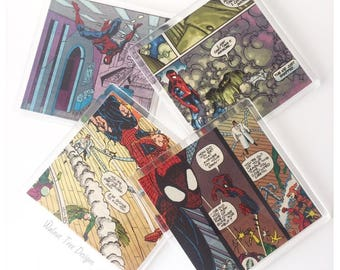 Spiderman Vintage Comic Coasters
