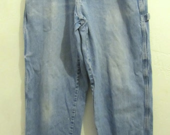 Men's Vintage 90's,RUGGED Faded Blue HIP H0P era CARPENTER Jeans By Wrangler.33x34
