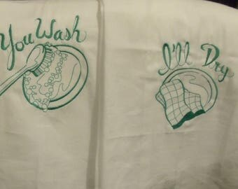 Large retro flour sack towels