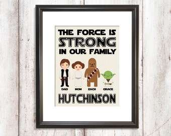 The force is strong with this family, Star Wars Gift, Star Wars Fathers Day Gift, Star Wars Gift for Dad, Dad Star Wars Gift, Dad Gift