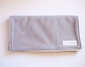 Light Grey Demin Look Cotton Burp Cloth