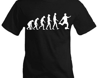 Cool Men's T-shirt - Evolution of Soccer - Short Sleeve Tee