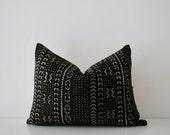 African Mudcloth pillow 'Juma Lumbar'