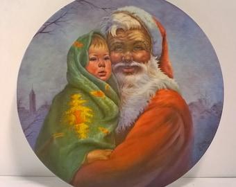 "Vintage ""Santa's Bundle"" Decorative Wall Plate by Gregory Perillo"