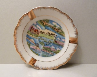 Ashtray Souvenir, Vintage, 1000 Islands, New York