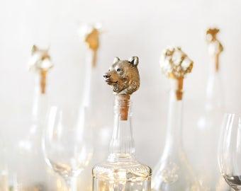 Bear. Bottle stopper