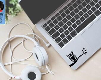 Owl On Branch Trackpad Keyboard Macbook Vinyl Decal / Sticker