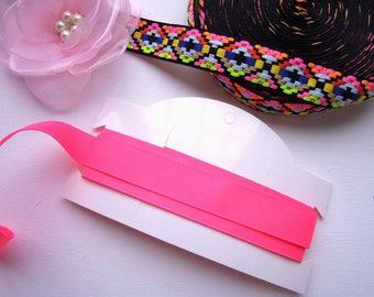2.5 yds Shocking pink 20 mm ribbon - Hot pink grosgrain ribbon - WHOLESALE shocking pink ribbon 2.5 and 5 yards choice