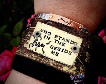 Metal Stamped Cuff Bracelet - Jesus - Christian Gifts - Hand Stamped