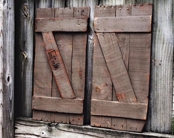 Rustic Barn Shutters
