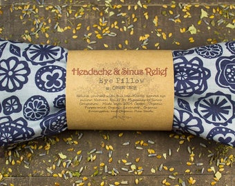HEADACHE & SINUS RELIEF Eye Pillow   Cold and Flu Relief   Congestion Relief   Natural Headache Relief   Aromatherapy   With Organic Herbs