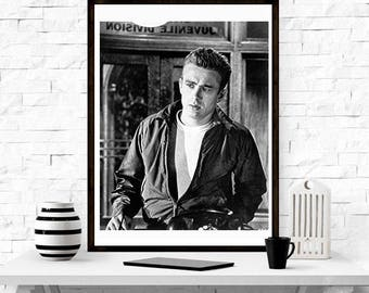 James Dean, home decor , hollywood icon , actor,  photography, wall art, gift for him,