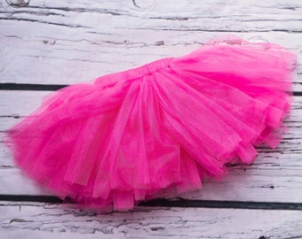 Baby girl tutu.1st Birthday tutu.Photo shoot prop.Baby girl outfit. Pink tutu.