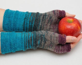 Winter Gloves Gift for her girlfriend gift for womens gift idea knit gloves Long fingerless gloves knit mittens Arm warmers best friend gift