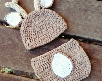 Free Crochet Deer Diaper Cover Pattern : Deer costume Etsy