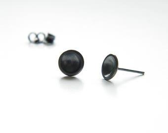 Concave earrings, Minimal earrings, Round stud earrings, dome earrings, concave studs, Casual earrings, minimalist chic earrings.