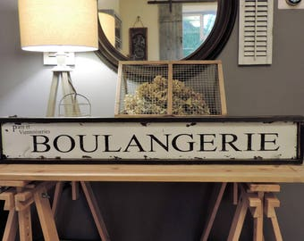 Rustic French bakery sign