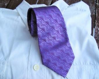 Vintage Tie, Mens Necktie, FREE SHIPPING, Mens tie, Lilac necktie, Vintage Mens neckties, Retro tie