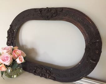Antique Oval Ornate Picture Frame