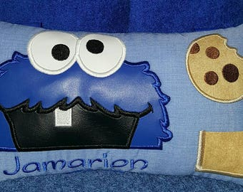 Cookie monster tooth fairy pillow