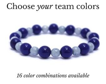 Game Day Soccer Bracelet - Soccer Team Spirit Wear - Sports Gifts for Mom - Mom Soccer Coach Gifts - Soccer Mom - Custom Beaded Bracelet