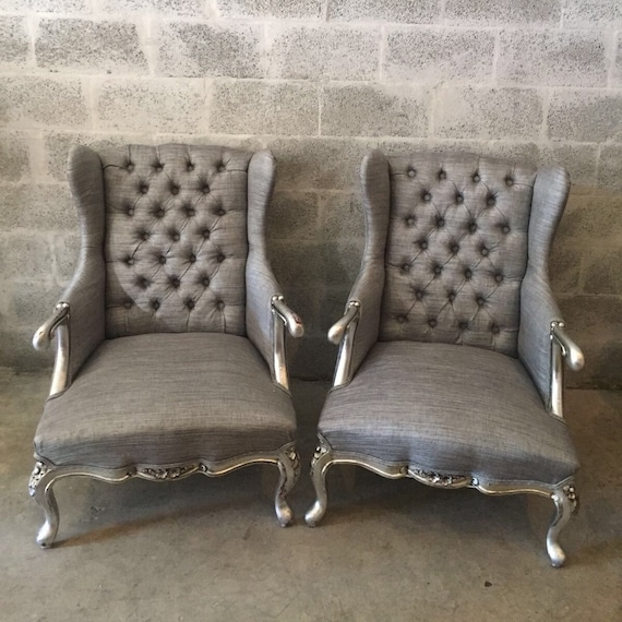 French Silver Chair Antique Furniture French Louis Xvi