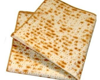 Passover Matzah Napkins Set of 4, Passover Matzo Yarmulkes Kippot