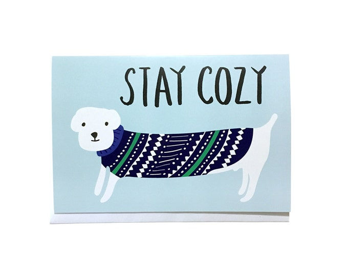 Stay Cozy (Dog) | Holiday Greeting Card