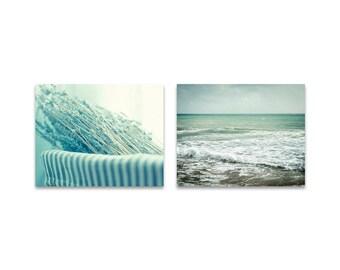 Bathroom print set, bathroom decor, still life bathroom, sea photography, ocean print, art for bath, laundry room prints, mint wall art