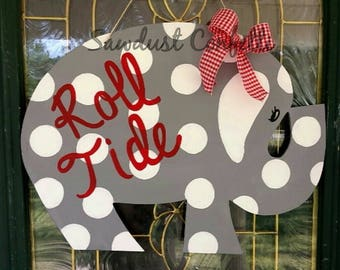 Alabama Elephant Door Hanger