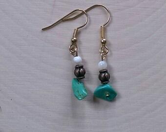 Turquoise Chip Beaded Bliss Earrings