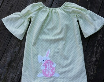 Easter dress, peasant dress, girls clothing,  Toddler clothing,