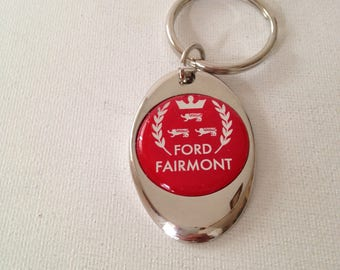 Ford Fairmont Keychain Chrome Plated Ford Key Chain