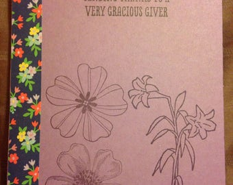 Thank You Card Flowers