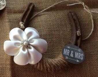 Mr. and Mrs. Lucky Wedding Horseshoe-horseshoe art -horseshoe decor-wedding decor-Gift-Equestrian-Cowgirl-Western-Country-Cowboy-Rustic